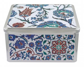 Benaki Museum Shop Metal box - Iznik tiles